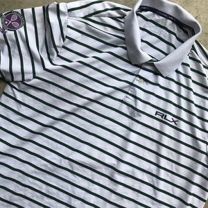 RLX Ralph Lauren polo striped Wimbledon tennis